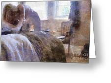 The Hotel Room By Mary Bassett Greeting Card