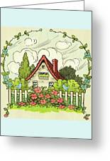 The House At The End Of Storybook Lane Greeting Card