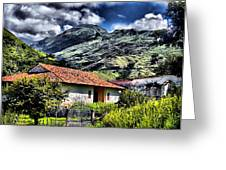 The House In The Valley Greeting Card