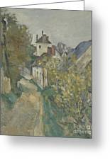 The House Of Dr Gachet In Auvers Sur Oise Greeting Card