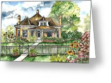 The House On Spring Lane Greeting Card