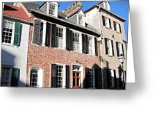 The Houses Of Charleston Greeting Card