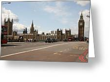 The Houses Of Parliament. Greeting Card