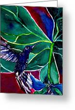 The Hummingbird And The Trillium Greeting Card