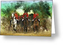 The Hunt Begins Greeting Card