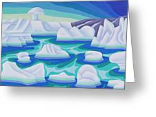 The Ice Calves Greeting Card