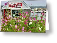 The Ice Cream Store On Bearskin Neck Greeting Card