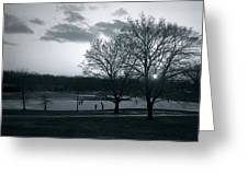The Ice Skaters...kirby Park Pond Kingston Pa. Greeting Card