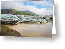 The Ice Wall Iceland Greeting Card