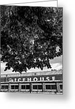 The Icehouse - Black And White - Bentonville Market District Greeting Card
