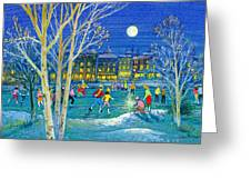 The Iceskaters Greeting Card