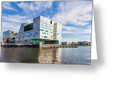 The Ij-dock In Amsterdam  Greeting Card