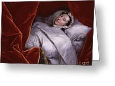 The Illness Of Actress Peg Woffington Greeting Card