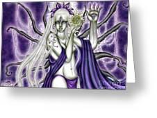 The Illumination Of Asteria Nyx Greeting Card