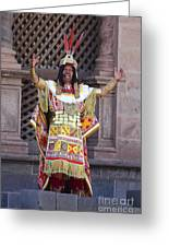 The Inca At Inti Raymi Greeting Card