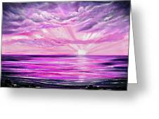 The Incredible Journey - Purple Sunset Greeting Card