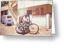 The Indian Tendor-coconut Vendor Greeting Card