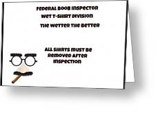 The Inspector  Greeting Card