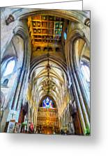 The Interior Of The Southwark Cathedral  Greeting Card