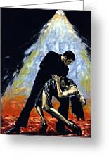 The Intoxication Of Tango Greeting Card by Richard Young