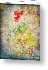 The Introverted Tulip Greeting Card