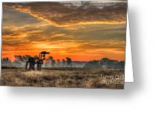The Iron Horse 517 Sunrise Greeting Card