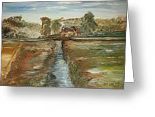 The Irrigation Canal Greeting Card