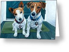 The Jack Russel Duo Greeting Card