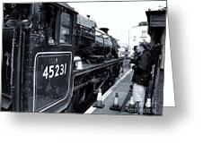 The Jacobite At Mallaig Station Platform 3 Greeting Card