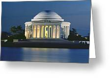 The Jefferson Memorial Greeting Card by Peter Newark American Pictures