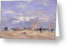 The Jetty At Deauville Greeting Card