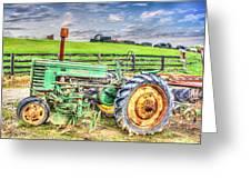 The John Deere Tractor Greeting Card