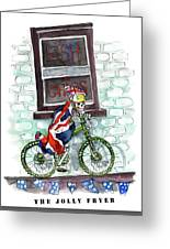 The Jolly Fryer In Ripon Greeting Card