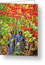 The Joys Of Autumn Camping Greeting Card