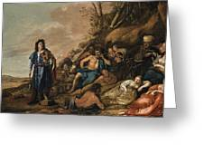 The Judgement Of Midas In The Contest Between Apollo And Pan Greeting Card
