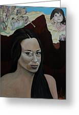 The Judgment Of Casey Anthony The Sacrifice Of Caylee Anthony Greeting Card by Angelo Thomas