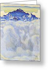 The Jung Frau Above A Sea Of Mist Greeting Card