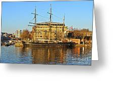 The Kaskelot In Bristol Dock Greeting Card