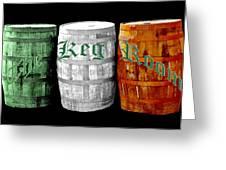 The Keg Room Irish Flag Colors Old English Hunter Green Greeting Card