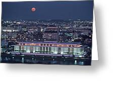 The Kennedy Center Lit Up At Night Greeting Card