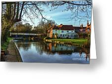 The Kennet And Avon Canal At Sulhamstead Greeting Card