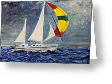 The Ketch Greeting Card