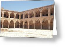 The Khan, Also Known As A Caravanserai, In Akko, Israel Greeting Card