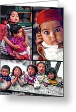 The Kids Of India Collage Greeting Card