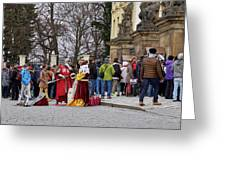 The Kings Of The Democracy. Prague Castle. Prague Spring 2017 Greeting Card
