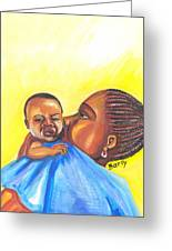 The Kiss Of A Mother In Senegal Greeting Card