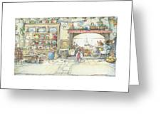 The Kitchen At Crabapple Cottage Greeting Card