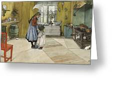The Kitchen. From A Home Greeting Card