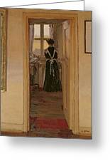 The Kitchen Greeting Card by Harold Gilman
