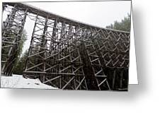 The  Koksilah River Trestle With Snow 1. Greeting Card